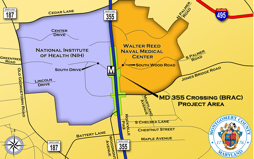 MD 355 Crossing Study Area Map